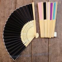 wedding photo - Times music diy wedding small objects HH056 opening gifts gift back to tea lady girl pink silk fan