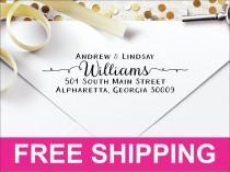 wedding photo - Pretty Custom Personalized Self Inking Return Address Stamp ARIS2770 - Perfect Wedding Gift, Bridal Shower Gift or Housewarming Gift