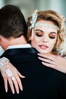 wedding photo - Great Gatsby Style Wedding Hand Chain
