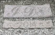 wedding photo - Wedding Garter Set - WHITE Bridal Garter with SILVER Rhinestone I Do Show Garter & Rhinestone YEAR Toss Garter - other colors
