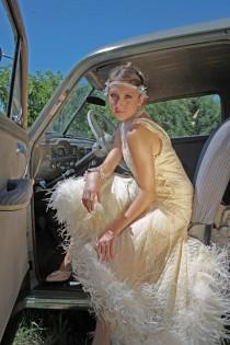 wedding photo - Vintage Wedding Gown 1920s inspired Roaring 20s Flapper Dress