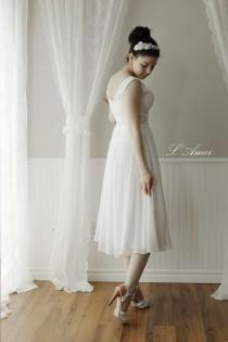 wedding photo - Simple Wedding or Bridesmaid Dress. Can be made with Chiffon. Also available in Plus Size