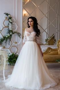 wedding photo - Wedding Dress Sky, Long Sleeve Wedding Dress,  Lace Wedding Gown, Princess Wedding Dress, boho Wedding, Romantic Gown