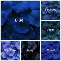 wedding photo - Silk Rose Petals, 1200 Dark Blue petals