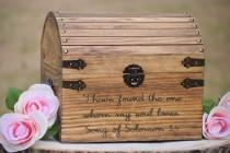 wedding photo - I Have Found the One Whom My Soul Loves Song of Solomon 3:4 - Wedding Card Box - Love Box -Love Letter Chest-Rustic Wedding-Wishing Well Box