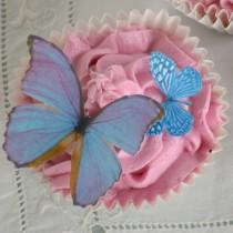 wedding photo - Edible Butterflies Multicoloured Wafer Rice Paper Mix Rainbow 3D Butterfly Wedding Cake Decoration Autumn Baking Decor Cupcake Cookie Topper
