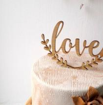 wedding photo - Wedding cake topper, Love cake topper, rustic cake topper, wooden cak topper, your wood choice