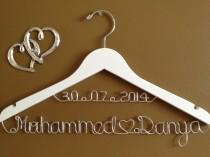 wedding photo - Bridal Hanger with Date & Hearts for your wedding, Personalized  bridal hanger, brides hanger, Bridal Hanger, Wedding hanger, Bridal