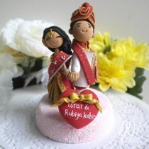 wedding photo - Custom Cake Topper- Indian traditional Wedding Theme
