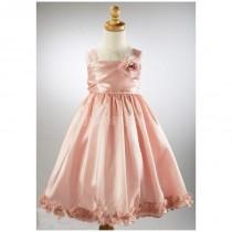 wedding photo - Chic Pink Princess Taffeta Zipper up Flower Girl Dress - Compelling Wedding Dresses