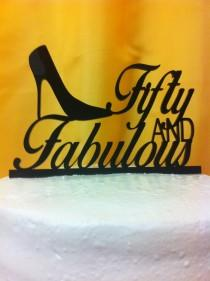 wedding photo - High Heel Fabulous Silhouette Birthday Cake Topper MADE In USA…..Ships from USA