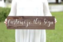 wedding photo - Custom Wooden Wedding Sign, Rustic Wedding Sign, Rustic Home Decor, Wall Art, Keepsake Gift, Personalized Sign