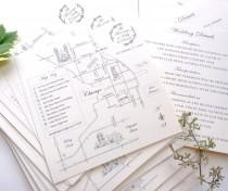 wedding photo - THE Classic • Hand-drawn Wedding Map with Personalized Calligraphy & Illustrations