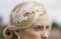 wedding photo - Gold Veil, Birdcage Veil, Metallic gold birdcage veil, Vintage style veil, French netting veil, Blusher veil, Bridal Headpiece, Bridal veil