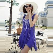 wedding photo - 2017 fashion swimwears bathing suit cover ups sexy crochet blue lace pareo beach dress summer bikini swimsuit cover up