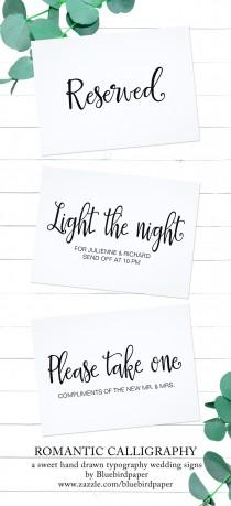 wedding photo - Romantic Calligraphy Wedding Signage