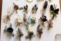 wedding photo - Unconventional boutonnieres ~ Rustic wedding ~ Bohemian style ~ Dried ~ Proms