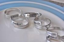wedding photo - Set of 8 family napkin rings, personalized, fun party set-- featured on HOUZZ