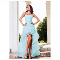 wedding photo - Marvelous Tulle & Satin Sweetheart Neckline A-Line Hi-lo Prom Dresses With Beaded Lace Appliques - overpinks.com