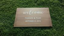 wedding photo - Personalised Wooden Wedding Sign