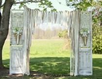 wedding photo - Wedding Curtains Backdrop Lace Wedding Garland Burlap Garland Backdrop Weddings Burlap Backdrop Barn Door Backdrop Curtains Rustic