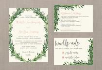 wedding photo - Vintage Watercolor Botanical Wedding Suite // DIY PRINTABLE Invite + RSVP // Botanical Wedding, Vintage Wedding, Whimsical Wedding