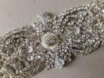 wedding photo - Wedding Dress Sash - Italia Sparkle 7.5 inches (Made to order)