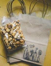 wedding photo - These personalized popcorn favors can be food, favors, AND table numbers