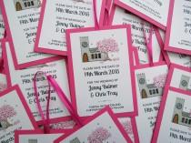 wedding photo - Church Save the Date Cards with Cherry Blossom Tree