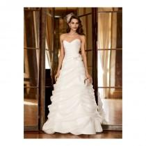 wedding photo - Funky Pure White Sweetheart Flower Ruched Satin Chapel Train Wedding Dress for Brides In Canada Bridal Gowns Prices - dressosity.com