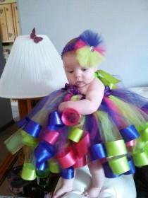 wedding photo - Baby rainbow tutu dress