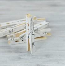wedding photo - Swallows Music Sheet CLOTHESPINS, Set of 10 Pegs, Wedding Decor , Escort Card Holders, wooden clips, Banner Holder