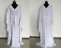 wedding photo - Custom Made Long Sleeves Wedding Dress/Beach Wedding Dress/ Applique Chiffon Bridal Gown By Wishdress