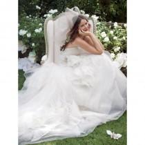 wedding photo - Sank Taille schulterfreies Brautkleid Ball Gown mit geschichteten Rock - Festliche Kleider