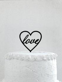 wedding photo - Love Cake Topper - Custom Wedding Cake Topper, Romantic Wedding Cake Decoration, Love Cake Topper, Traditional Wedding Cake Topper