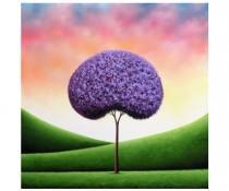 wedding photo - Purple Tree Art Print, Giclee Print of Original Oil Painting, Whimsical Art Tree Print, Colorful Landscape Print, Modern Contemporary Art