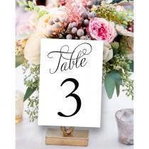 wedding photo - Fancy Table Numbers 1-30, Wedding Table Number, Printable Wedding Reception, Reception Printable, Instant Download,