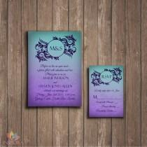 wedding photo - Traditional Ombre Wedding Invitation + RSVP