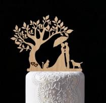 wedding photo - rustic wedding cake topper wedding tree with bird cake topper personalized wood cake toppers Mr Mrs cake topper custom personal bride groom