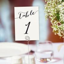 wedding photo - Table Numbers Printable 1-40 Template In TWO Sizes, Wedding Table Seating Template, Table Number Cards, Editable Wedding Printable,