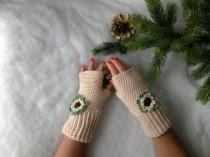 wedding photo - Guanti senza dita all'uncinetto con fiore - Fingerless gloves crocheted - Gloves handmade - Gloves and mittens - Made in Italy
