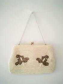 wedding photo - wedding bag, vintage handbag, 50s handbag, 50s purse, beaded purse, pearl handbag, retro handbag