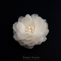 wedding photo - Freshwater Pearl Bridal Hair Flower, Pure Silk Wedding Hair Flower, Bridal Wedding Hair Clip, Wedding Hair Piece, Wedding Hair Accessory