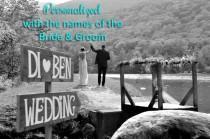 wedding photo - Rustic Wedding Signage, Rustic Wedding Sign, Woodland Wedding Decor, Wedding Signage, Rustic Wedding Decor, Custom Signage, Beach Arrow Sign