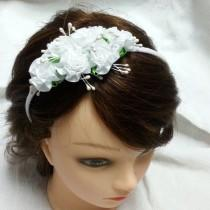 wedding photo - Flower girl flower crown, little girl flower crown.  hairpin for babi handmade Hair Accessories