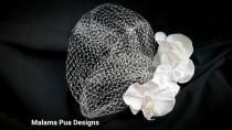 wedding photo - WEDDING VEIL, Bridal Veil, Hair accessory, Silk flower, Tropical Hair flower, Wedding headpiece, Beach Wedding, flower clip, Hawaiian flower