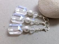 wedding photo - Crystal Keychain, Small Keychain, Crystal Wedding Favors, Communion Favors,White party favors,Clip on charm,White bag charm,Beaded key chain