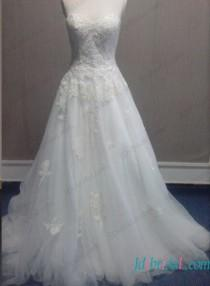wedding photo - Fairy sweetheart neckline tulle ball gown wedding dress
