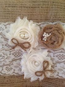 wedding photo - Rustic Wedding Garter, lingerie, garter wedding, Ivory garter, wedding