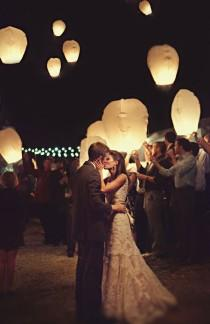 wedding photo - 20 Multi-Color Chinese Lanterns Sky Fly Candle Lamp for Wish Party Wedding Holiday Birthday Celebration Vintage Handmade Gift